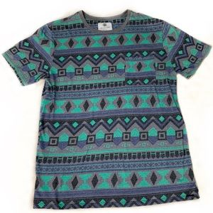 Pacsun On The Byas Men's Tribal Patterned Tee